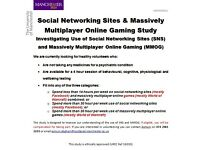 SOCIAL MEDIA USERS AND ONLINE GAMERS WANTED