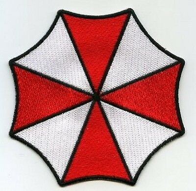 FANCY DRESS HALLOWEEN COSTUME PATCH: Resident Evil UMBRELLA CORPORATION LOGO ID (Umbrella Corporation Halloween Costumes)