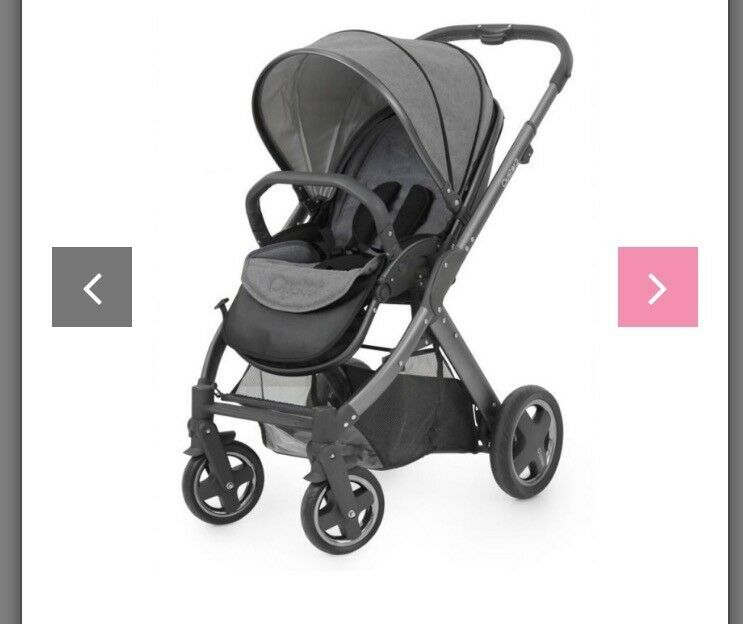 Grey oyster2 with car seat.