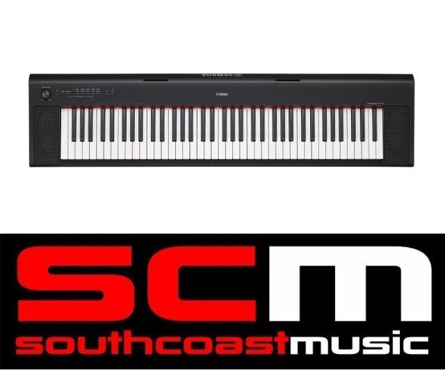 YAMAHA NP32 76 KEY DIGITAL PIANO KEYBOARD & ADAPTOR & 2 DVD SET +3YR WARRANTY