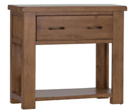 Console table / sideboard chunky rustic with large drawer pine excellent condition
