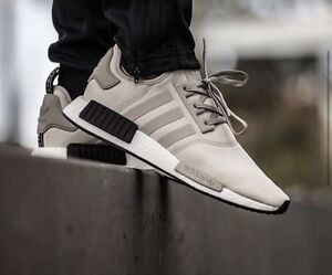 Adidas NMD R1 Ash/white/burgundy Exclusive to footlocker US10 Mount Gravatt Brisbane South East Preview