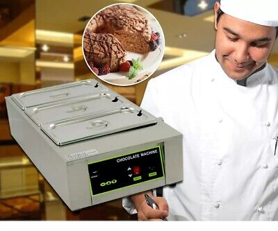 Chocolate Melting Pot Chocolate Warmer 3 Tanks Chocolate Tempering Machine Donut