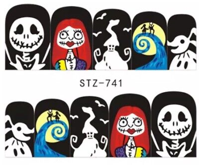Nightmare Before Christmas nail Art Decals (water decals) Halloween Nail - Halloween Nail Art Nightmare Before Christmas
