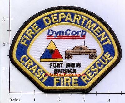California - Fort Irwin Division DynCorp Crash Fire Rescue CA Fire Dept Patch