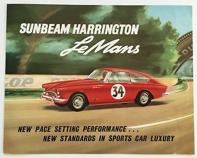 Sunbeam Harrington LeMans Original Car Sales Brochure Catalog and Letter - 1962