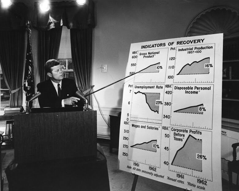 PRESIDENT JOHN F. KENNEDY DELIVERS ADDRESS IN AUGUST, 1962 - 8X10 PHOTO (BB-232)