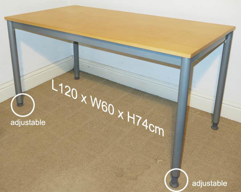 good condition ikea effektiv desk 120cm wide adjustable feet complete with manual in. Black Bedroom Furniture Sets. Home Design Ideas
