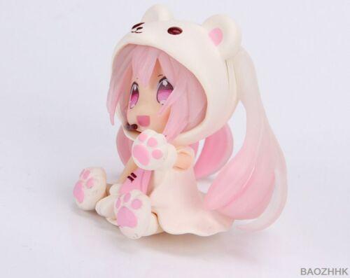 "3/"" Pink Snow Miku Polar Bear Costume Animation Nendoroid Hatsune Miku Gift New"