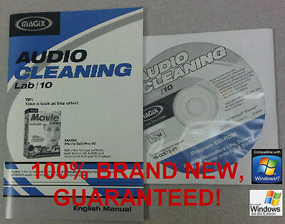 Magix Audio Cleaning Lab 10 Works fine on XP/ Windows 7/8 PC Music Utility