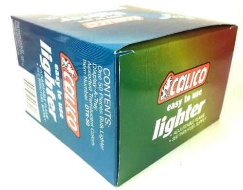 50 Calico Jeweltones Disposable Lighters eay to use