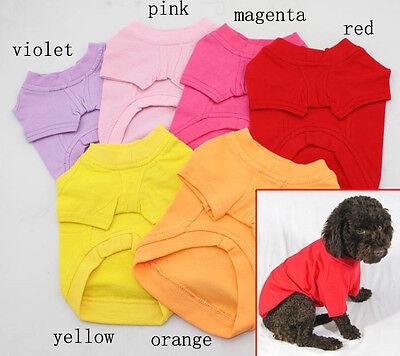 Blank Dog T-shirts (Plain Dog Shirt Cotton Pet Clothing Blank Pet Tees TShirt - Size XS S M L)