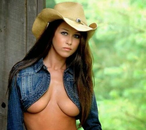 """Sexy Cowgirl  refrigerator magnet 3 1/2 X 3 1/2 """""""