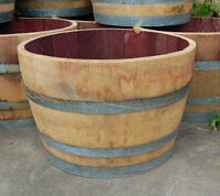 Wine Barrel or Whiskey Barrel Planters