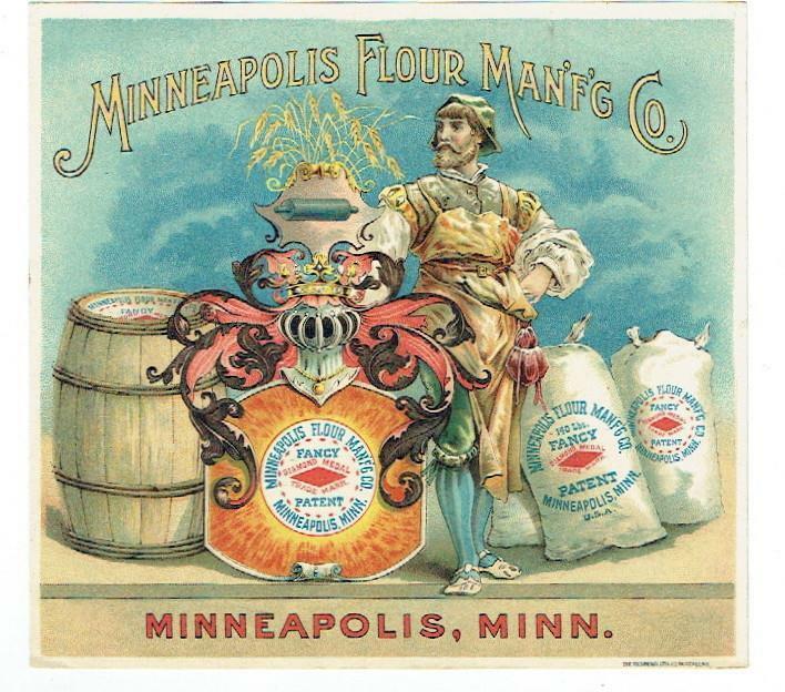 Flour Trade Card- Minneapolis Flour Mfg Co-Fancy Flour-Fine