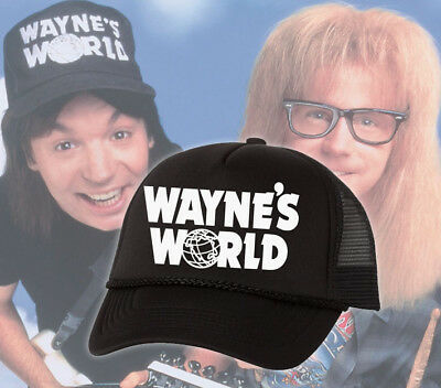Wayne's World Hat Party Cosplay Trucker Mesh Hats Waynes World Halloween Costume