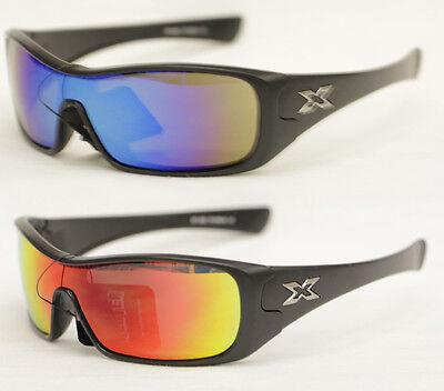 Snowboard Brille Sportbrille Shield Radbrille verspiegelt Sonnenbrille Biker 772 ()