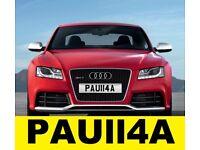 Cherished Number Plate PAU114A Private Plate Personalised Reg Paula Paulla Paul