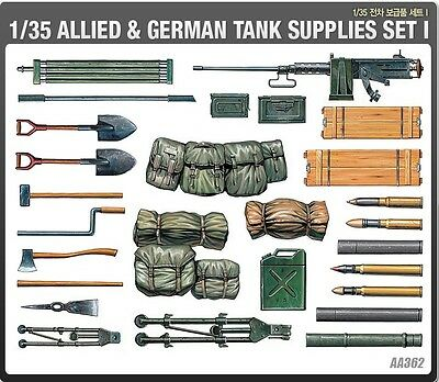 Academy 1/35 Plastic Model Kit Allied & German Tank Supplies Set I 1382 NIB