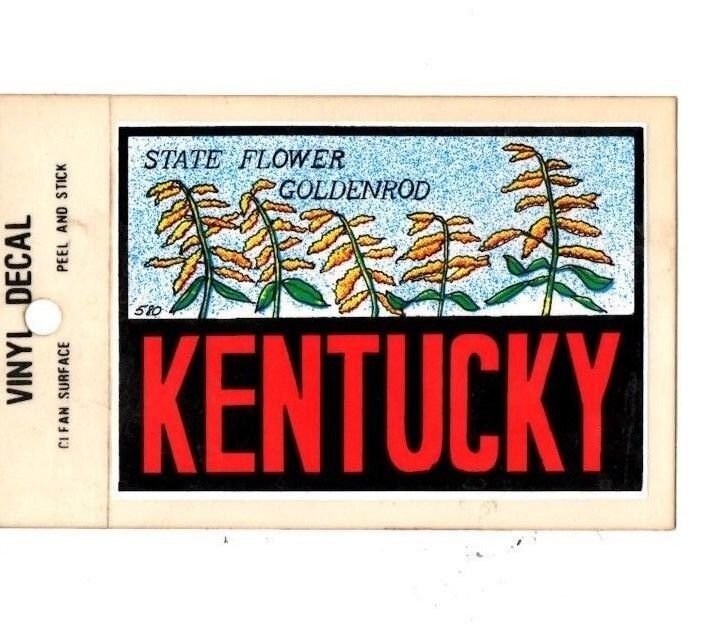 Lot of 12 Kentucky State Flower Souvenir Luggage Decal Stickers - New - Free S&H