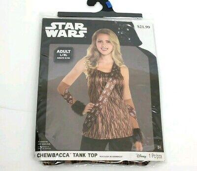 Chewbacca Womens Costume (NEW Womems Star Wars Chewbacca Costume Top Shirt Wookie Tank Size)