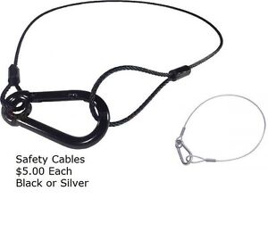 2 silver safety cables