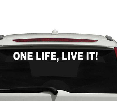 ONE LIFE LIVE IT Car Van Bumper Window Vinyl Decal Sticker land rover 4x4
