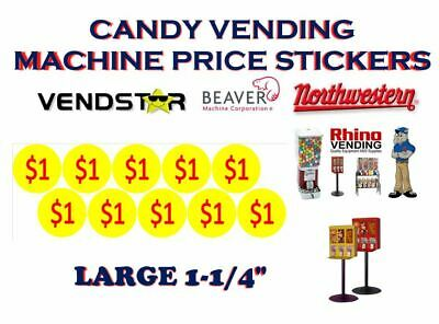 Bulk Vending Label Candy Machine Price Sticker 1