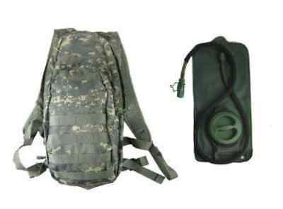 019c27fdeb Military Camo ACU Hydration Bladder Day Pack Backpack Hiking Running  Schoolpack