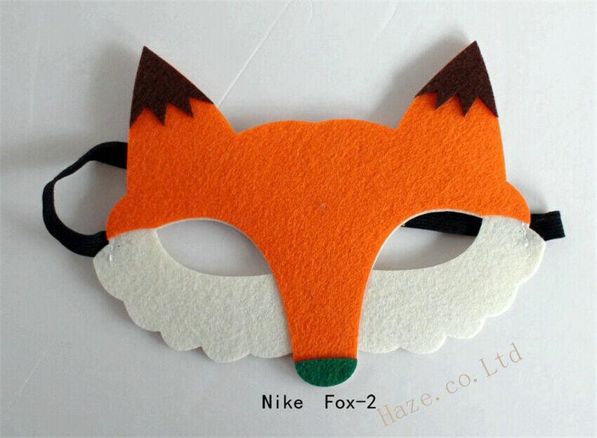 Furry Mr Fox Wild Animal Party Mask Boys Book Week Dress Up Costume Nick Wilde