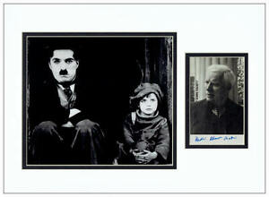 Charlie Chaplin Autograph Signed Photo Display  AFTAL  UACC RD