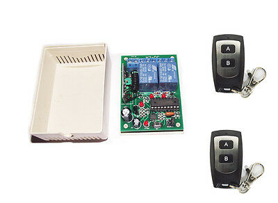 2CH RF Radio Remote Controller Receiver on/off  waterproof Switch Relay DC12V/9V