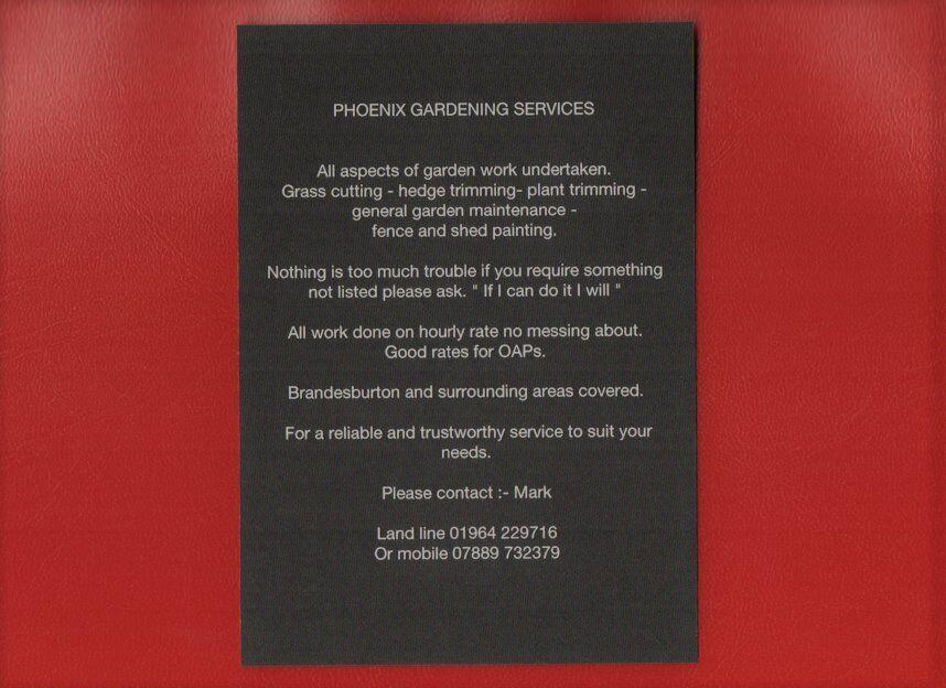 Phoenix Gardening Services