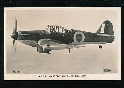 Aircraft Air Force Military RAF MILES MASTER Advance Trainer RP PPC by Valentine