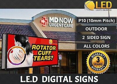 48x96 Led Digital Sign Board Outdoor 2 Sided Full Color Programmable Sign