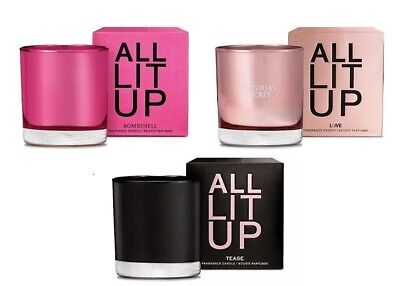 VICTORIA'S SECRET ALL LIT UP TEASE LOVE FRAGRANCE CANDLE PERFUME SCENTED 7.7 OZ