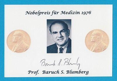 Prof. Baruch Samuel Blumberg - Nobelpreis für Medizin 1976 - # 13093