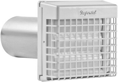 IMPERIAL 4-in Dia Plastic Galvanized Louvered with Guard New