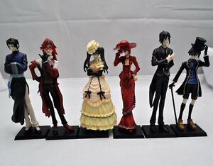 Japan-Anime-Black-Butler-Kuroshitsuji-Action-Figure-ceil-Set-of-6-TG1086