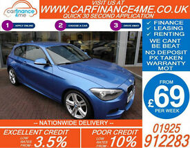 2013 BMW 118D 2.0 TD M-SPORT GOOD / BAD CREDIT FROM 69 P/WK