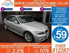 2010 BMW 330D 3.0 TD M-SPORT GOOD / BAD CREDIT CAR FINANCE FROM 59 P/WK