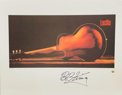 B.B. KING Signed Autograph 22X28 Lithograph Poster Lucille Limited 55/685 JSA