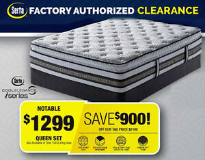 Serta Factory Authorized Clearance! Queen SAVE $800! (Nicolston)
