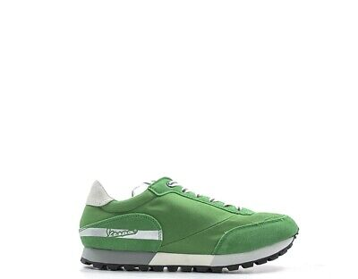 Shoes VESPA Man Sneakers trendy VERDE Fabric,Suede V00006-612-86U