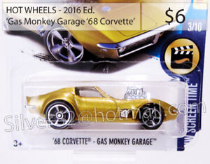 HOT WHEELS '2016 Ed. / 'Chevrolet 1968 Corvette ('Gas Monkey')