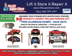 Car Lifts Parking Storage 8K & 9K Capacity   FREE Aluminum Ramps