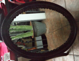 Old heavy Mirror - very intricate detailing on the frame - $40
