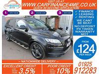 2013 AUDI Q7 3.0 TDI QUATTRO S-LINE + GOOD / BAD CREDIT CAR FINANCE FROM 124 P/W