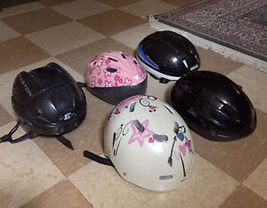 different size kids helmets