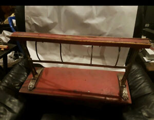 Antique 1930s cast iron and wooden General Store / Butcher paper